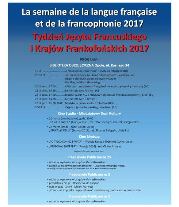 Tydzień Języka Francuskiego i Krajów Frankofońskich