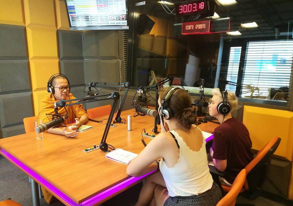 Mnich z Kambodży odwiedził Radio Sygnały!