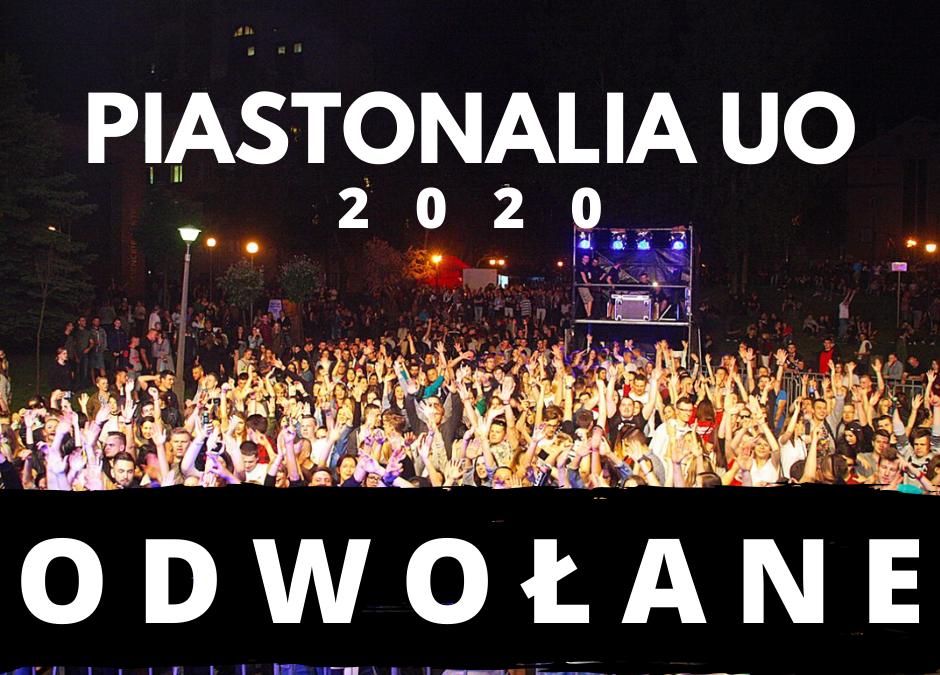 Piastonalia 2020 oficjalnie odwołane